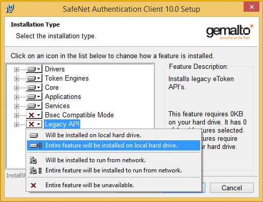 При запуске SafeNet Network Logon 8 3 9 программа прекращает